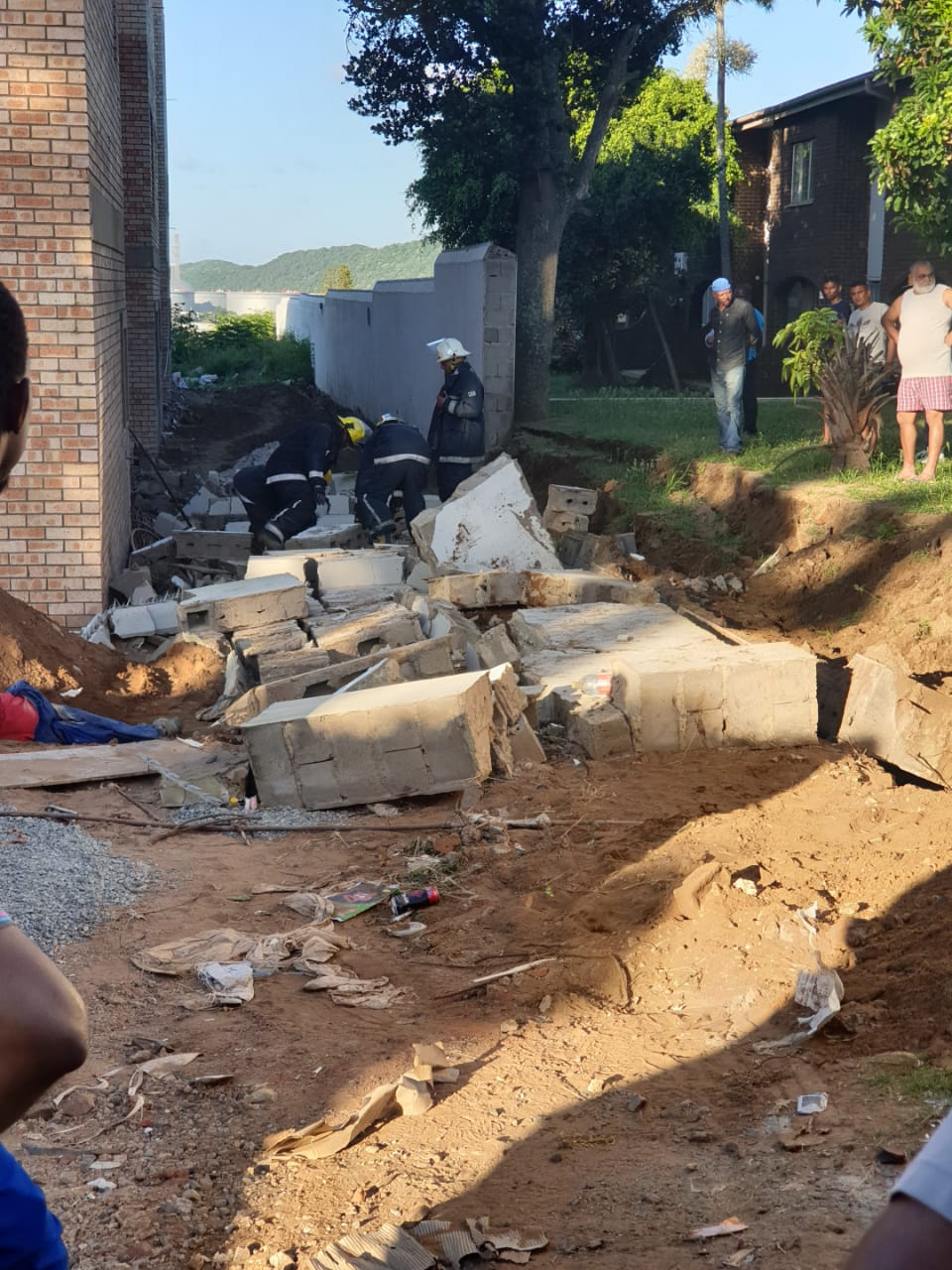 3 killed as wall collapses on construction site in Isipingo