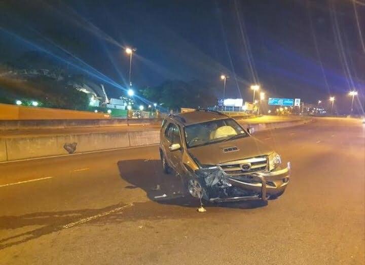 Daryl Kotze car sprayed with bullets