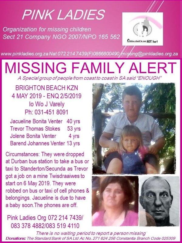 missing kzn family