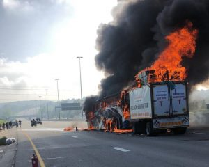 bus fire johannesburg