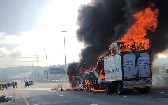 bus fire johannesburg