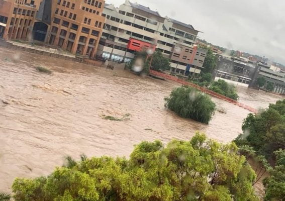 flooded tshwane street
