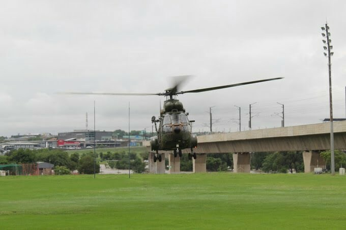 helicopter rescue flood victims in pretoria