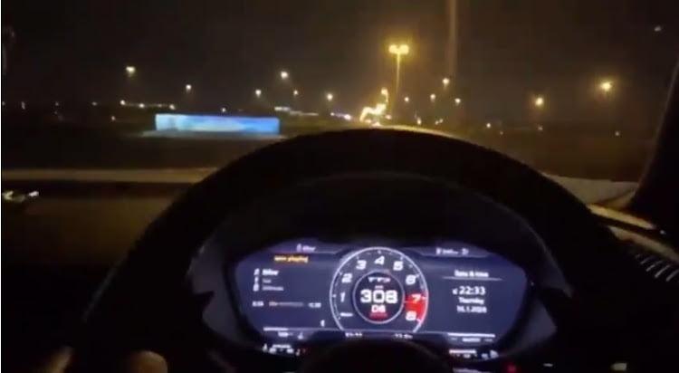Audi driver clocks 308km/h