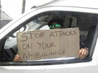 cape town paramedics attacked