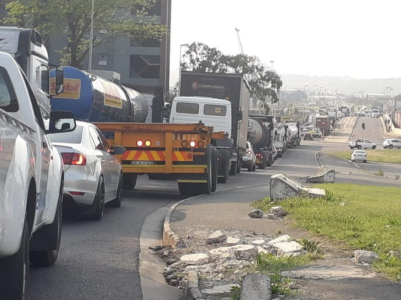 Heavy truck backlog at Durban harbour due to early arrival