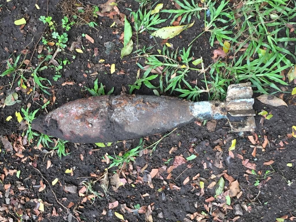 mortar bomb found at kloof home
