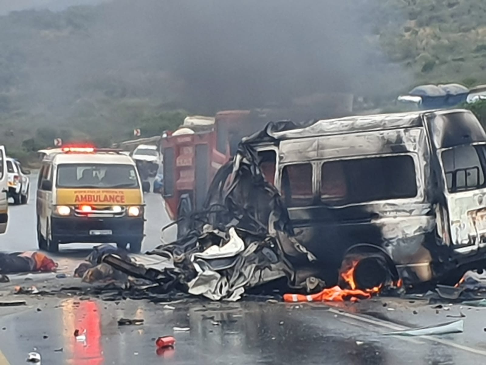 r66 truck and taxi crash
